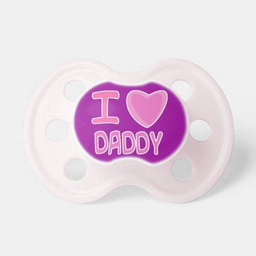 papá del corazón del amor de la niña i chupetes de bebe