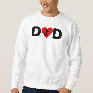 Papá del corazón del talud del béisbol pulover sudadera