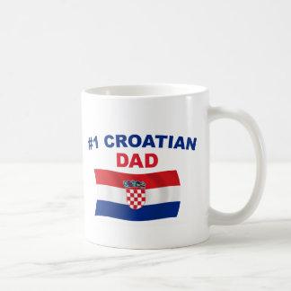 Papá del croata #1 taza clásica