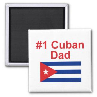 Papá del cubano #1 imán cuadrado