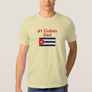 Papá del cubano #1 playera