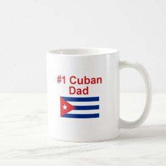 Papá del cubano #1 taza básica blanca