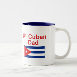 Papá del cubano #1 taza dos tonos