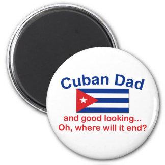 Papá del cubano de Gd Lkg Imán Redondo 5 Cm