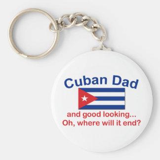 Papá del cubano de Gd Lkg Llavero Redondo Tipo Pin