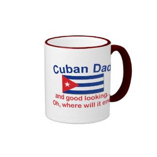 Papá del cubano de Gd Lkg Taza A Dos Colores