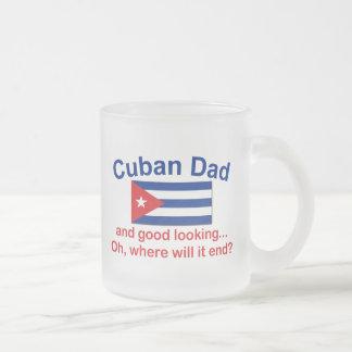 Papá del cubano de Gd Lkg Taza Cristal Mate