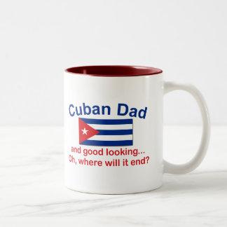 Papá del cubano de Gd Lkg Taza Dos Tonos