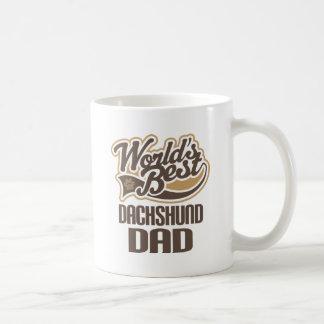 Papá del Dachshund (mundos mejores) Taza Clásica