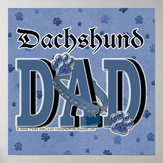PAPÁ del Dachshund Posters