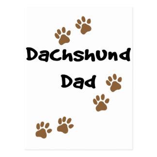Papá del Dachshund Tarjetas Postales