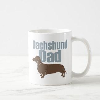 """""""Papá del Dachshund """" Taza De Café"""