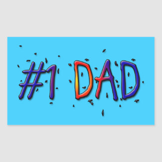 Papá del día de padre 1 rectangular pegatinas
