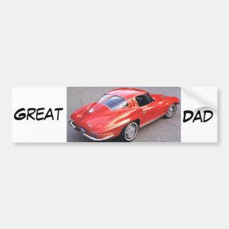 Papá del día de padre gran pegatina para auto