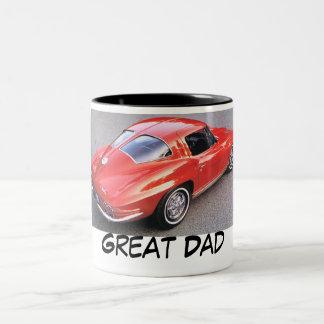 Papá del día de padre gran taza