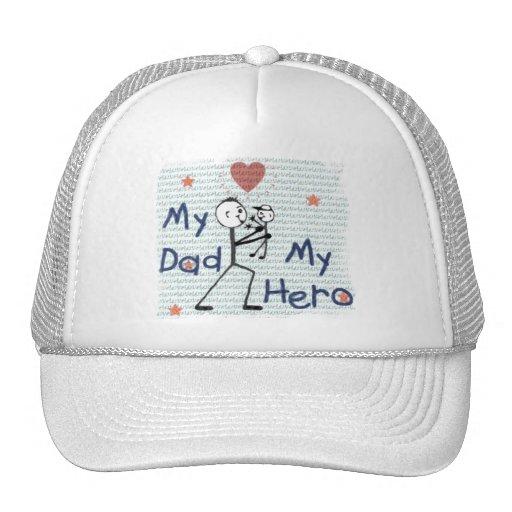 Papá del día de padre mi gorra de béisbol del héro