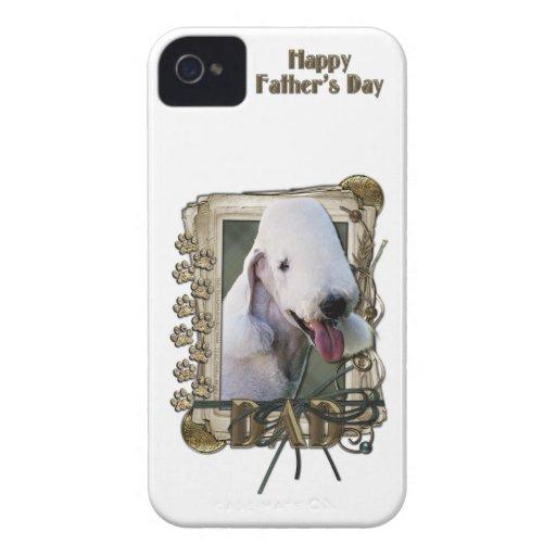 PAPÁ del día de padres - patas de piedra - Bedling iPhone 4 Case-Mate Protectores