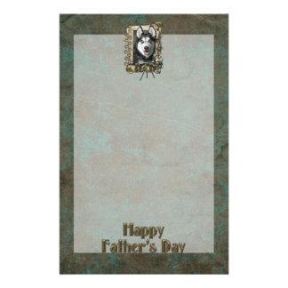 PAPÁ del día de padres - patas de piedra - husky s Papelería