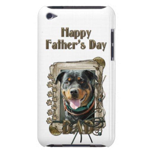 PAPÁ del día de padres - patas de piedra Rottweile Case-Mate iPod Touch Cárcasa