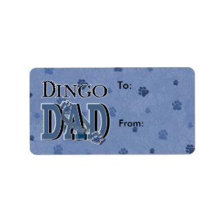 PAPÁ del Dingo Etiqueta De Dirección
