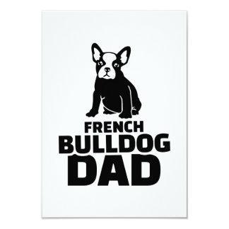 Papá del dogo francés invitación 8,9 x 12,7 cm