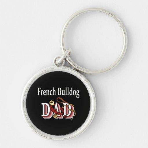 Papá del dogo francés llaveros personalizados