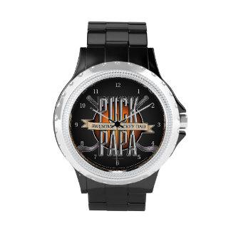 Papá del duende malicioso reloj de mano