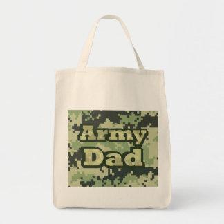 Papá del ejército bolsa tela para la compra