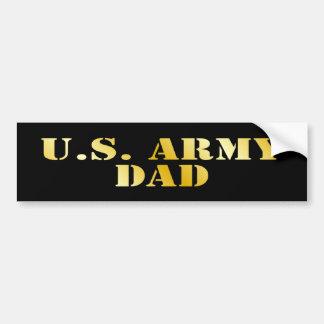 Papá del ejército pegatina de parachoque