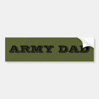 Papá del ejército de la pegatina para el parachoqu pegatina para auto