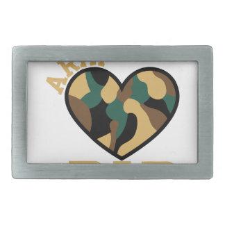 Papá del ejército hebillas cinturón rectangulares