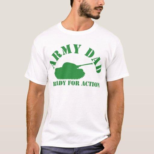 ¡Papá del ejército listo para la acción! Playera