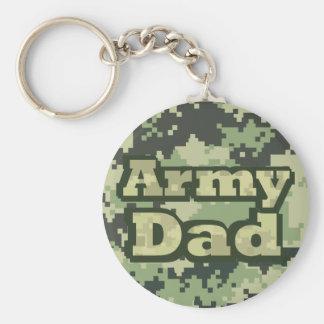 Papá del ejército llavero redondo tipo pin
