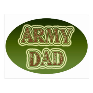 Papá del ejército tarjeta postal