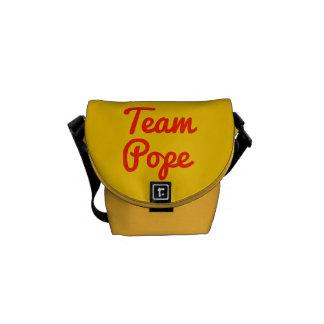 Papa del equipo bolsas messenger