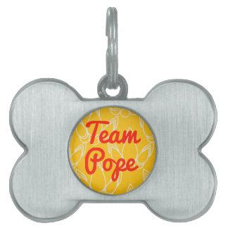 Papa del equipo placa de mascota