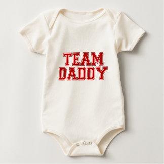 Papá del equipo trajes de bebé