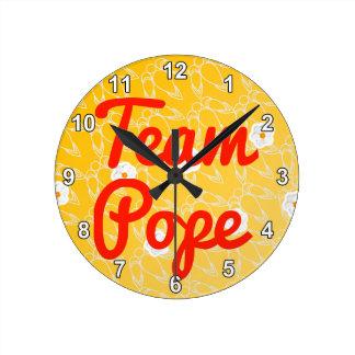 Papa del equipo reloj
