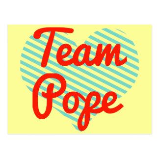 Papa del equipo postales