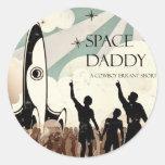 Papá del espacio - un cortometraje errante del vaq pegatina