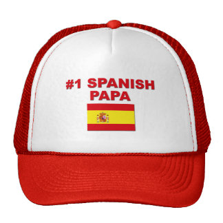 Papá del español #1 gorros bordados