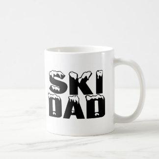 Papá del esquí tazas de café