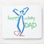 papá del feliz cumpleaños alfombrillas de ratón