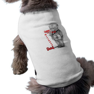 Papá del feliz cumpleaños - camarero ropa de perro