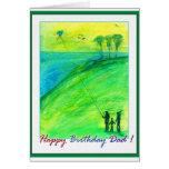 Papá del feliz cumpleaños - cometas tarjetas