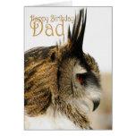 Papá del feliz cumpleaños con el búho de Eagle Tarjetón
