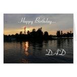 ¡Papá del feliz cumpleaños! - Mil puestas del sol  Felicitaciones