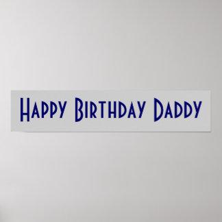 Papá del feliz cumpleaños posters