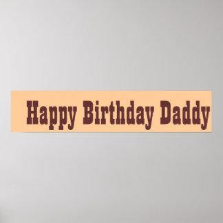 Papá del feliz cumpleaños poster