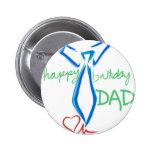 papá del feliz cumpleaños pin